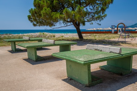 table tennis: Concrete super heavy duty ping pong table. Bar, Montenegro.