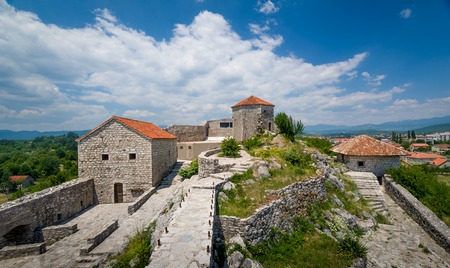 Abandoned historical ruins od Bedem fortress in Niksic town, Montenegro