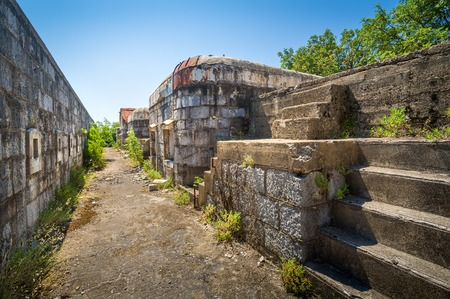 upper floor: Upper floor and buildings of Fort Kabala. One of the many unknown historical monuments in Montenegro.