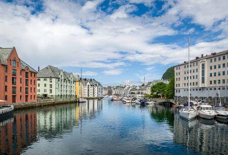 Alesund panoramic view Stock Photo