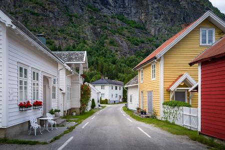 Solvorn village, Norway.