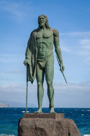 Old Guanche king statue in Candelaria
