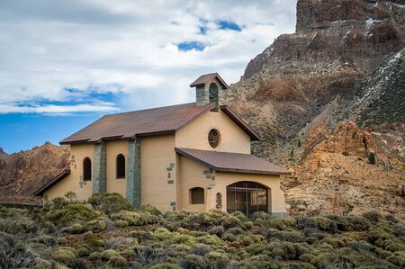 Ermita de Nuestra chapel at El Teide national reserve, Tenerife island. Stock Photo