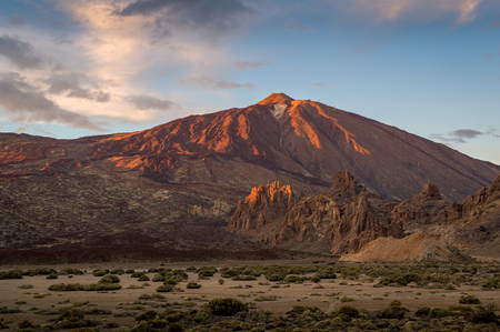 Sunset at Teide national reserve, Tenerife