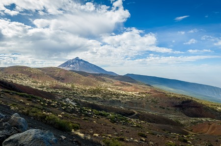 Atones and lava desert fields of Pico del Teide Stock Photo