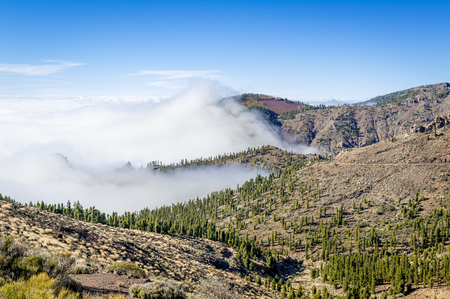 Mountains above the clouds of Tenerife island