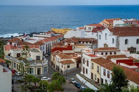 Old Garachico town red roofs and historical streets. Stock Photo - 114302252