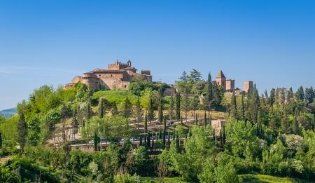 Certaldo fortress and italian comune commob view. Tuscany, Italy.