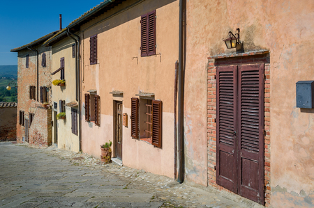 Old houses of Certaldo - popular touristic stop in Tuscany. Italy.