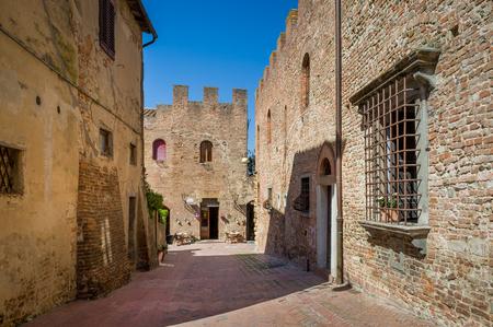 Ancient fortress at Certaldo comune. Popular historic landmark of Toscana, Italy. Stock Photo