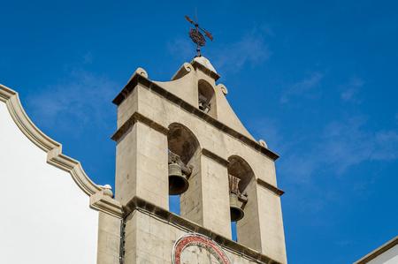 Bell tower of Iglesia Parroquial de San Marcos in Icod de los Vinos, Tenerife island, Canarias, Spain.