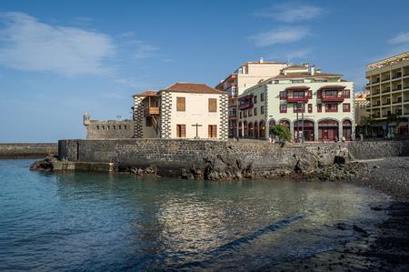 Playa del Muelle bay and museum of contemporary art in Puerto de la Cruz. Tenerife island, Spain.
