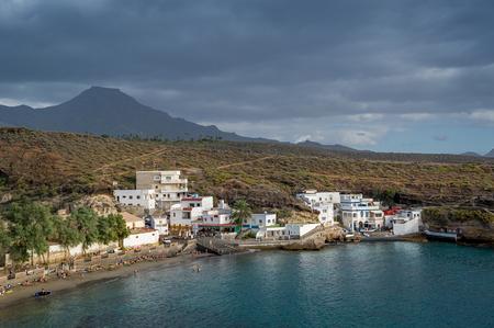 El Puertito bay, nice small beach, Tenerife, Canary islands. Stock Photo