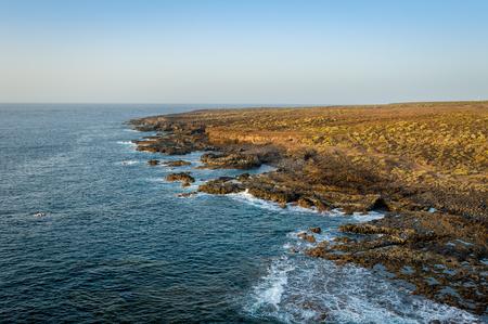 Tenerife west coast cape rocks at Punta de Teno. Canary islands, Spain. Stock Photo