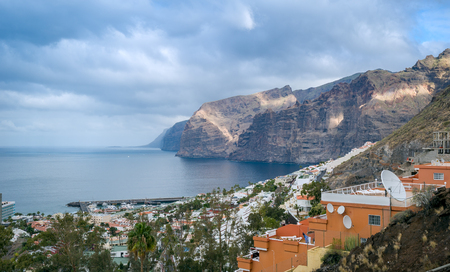 Los Gigantes village and rocks view. Tenerife island. Canarias, Spain Stock Photo