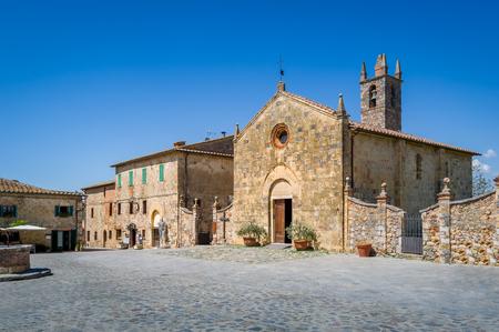 Zentraler Platz von Monteriggioni