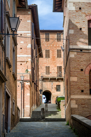 Siena narrow streets of old town