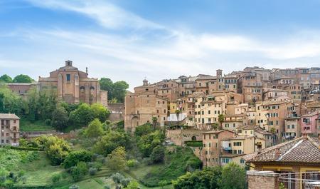Siena panoramic view 版權商用圖片
