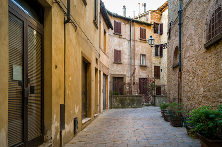 Narow streets of Volterra old town