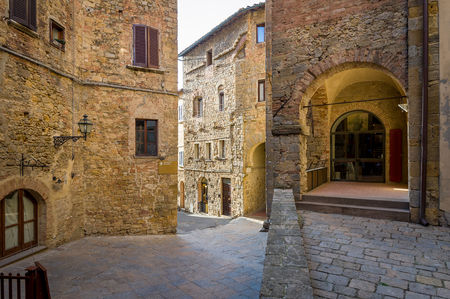 Volterra old fortress street 写真素材