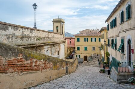 Elba island old town of Portoferraio Stock Photo