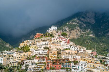 Positano old town on the hill. Amalfi coast, Italy