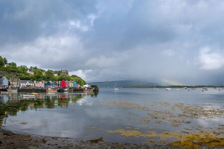 Rainbow at Tobermory Standard-Bild