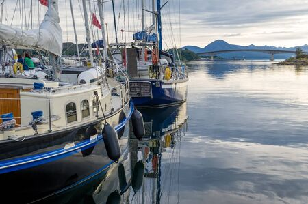 Vintage sailing boats dockes at Kyle of Lochalsh