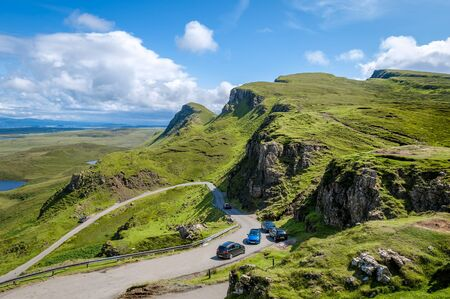 Mountain road aerial view from popular viewpoint Stock Photo