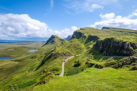 Skye island highlands viewpoint