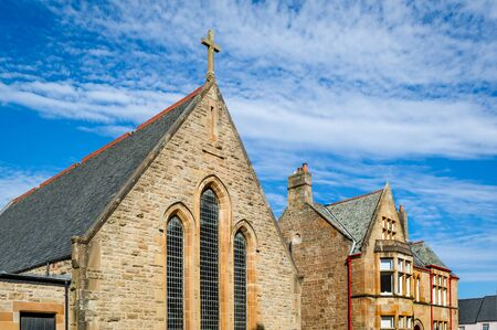 Old church at Campbeltown, Scotland Standard-Bild