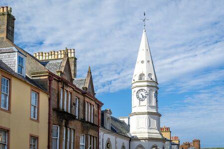 Clock tower of Campbeltown. Kintyre peninsula, Scotland.