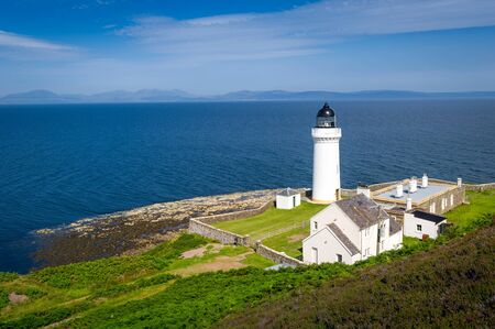 Lighthouse of Davaar - small island, wich is only available by land in low tide. Kintyre, Scotland