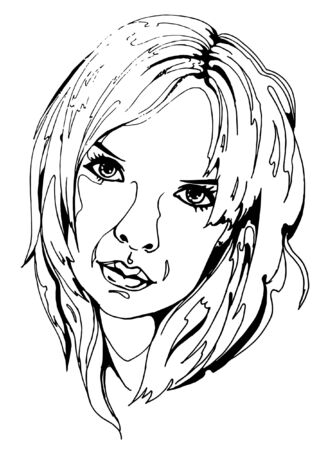 face to face: Women face Illustration