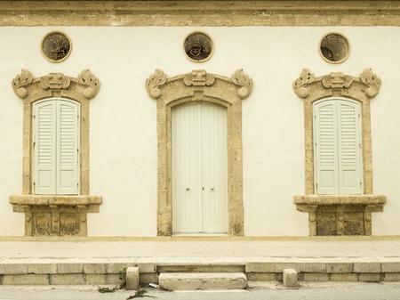 facade of building In Sicily Editorial
