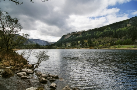 Upper lake in Glendalough Valley, Wicklow photo