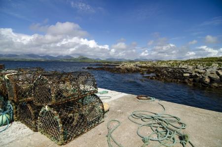 lobster pots: Lobstar traps, Galway Ireland