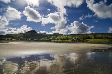 connemara: The sky reflected on the beach, Connemara Ireland