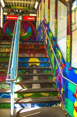 murals: Murals in the underground, Pilsen Chicago Editorial