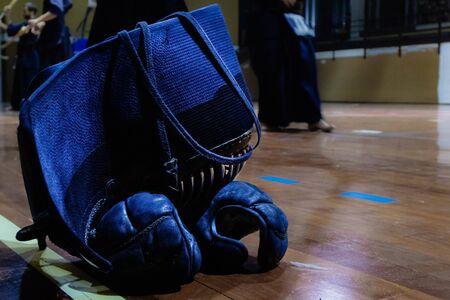 Kendo iaido men waiting