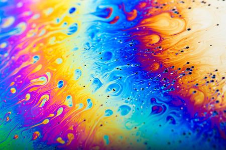 balance rainbow colors: Abstact colours of a soap bubble film