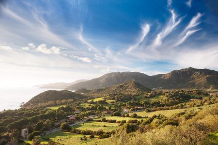 Coastal countryside view photo