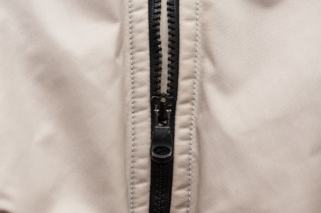 zipper vest in synthetic cloth photo