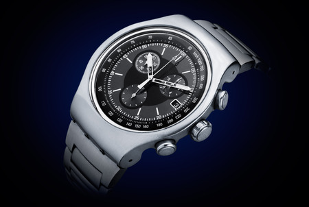 Luxury chronograph watch stainless steel