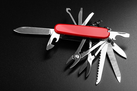 all purpose: Pocket Swiss knife fully opened