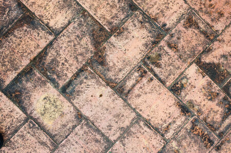 bad weather: texture tile flooring crossed, aging effect by bad weather Stock Photo
