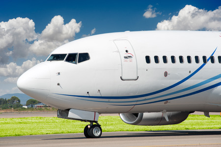 Passenger aircraft taxing to take off