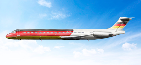 fictional: Airplane profile with fictional livery of the German flag