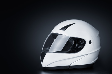 Blank full face helmet in a black background Фото со стока - 34352160