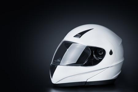 full face: Blank full face helmet in a black background
